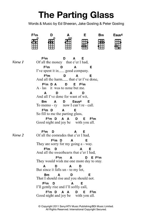 The Parting Glass Sheet Music