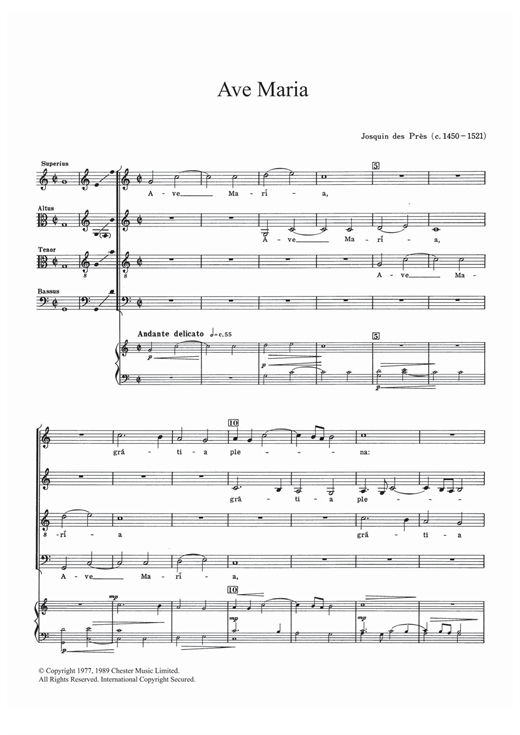 Ave Maria Sheet Music