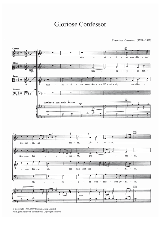 Gloriose Confessor Sheet Music