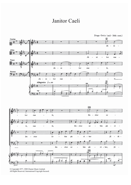 Janitor Caeli Sheet Music