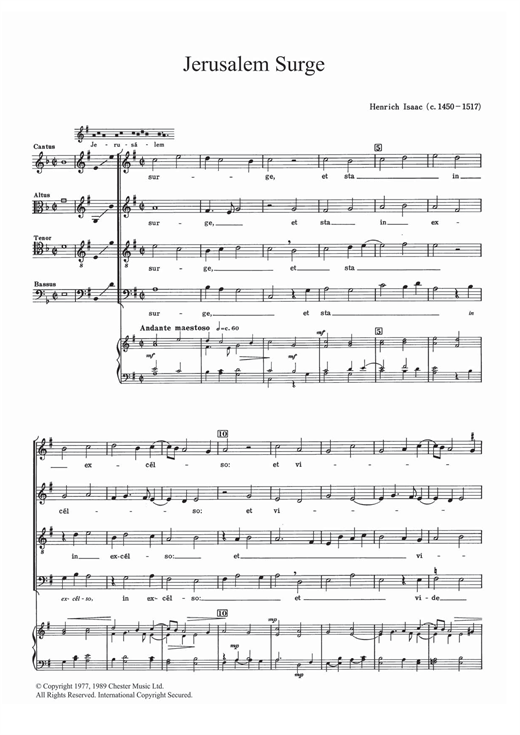 Jerusalem Surge Sheet Music