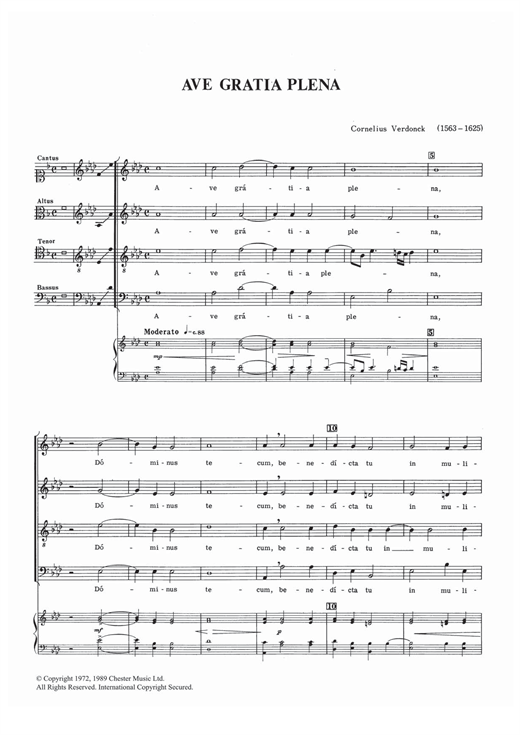 Ave Gratia Plena Sheet Music