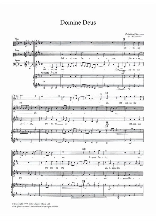 Domine Deus Sheet Music