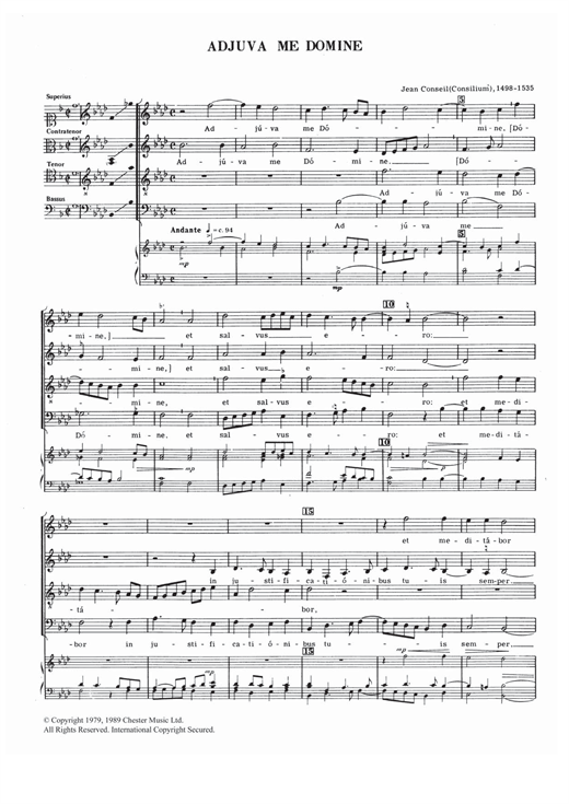 Adjuva Me Domine Sheet Music