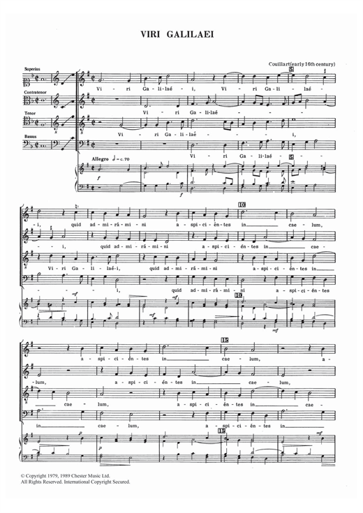 Viri Galilaei Sheet Music