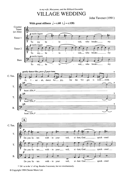 Village Wedding Sheet Music