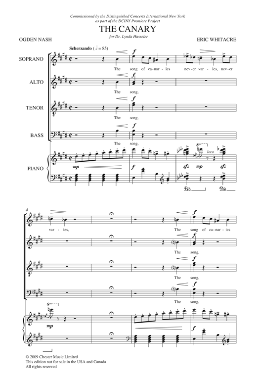 Partition chorale Animal Crackers, Volume 2 de Eric Whitacre - SATB