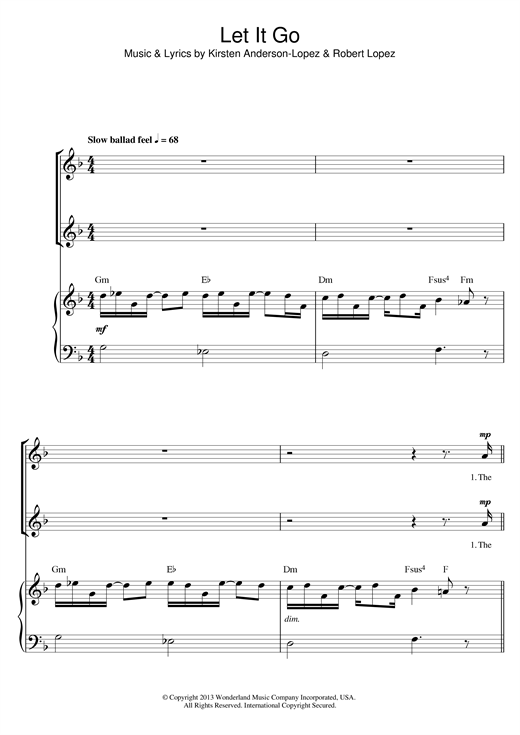 Let It Go (arr. Barrie Carson Turner) Sheet Music