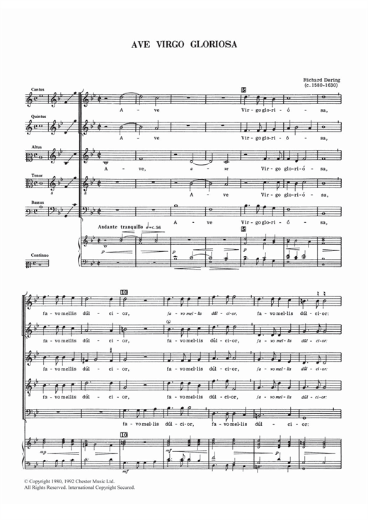 Ave Virgo Gloriosa Sheet Music