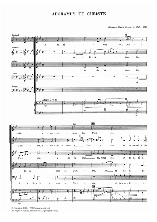 Adoramus Te Christe Sheet Music