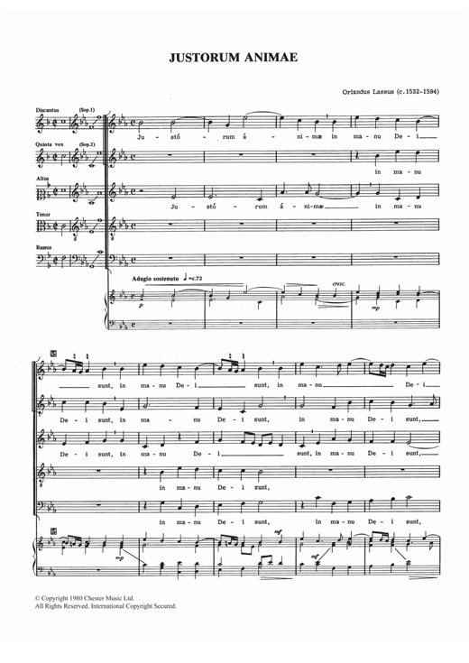 Justorum Animae Sheet Music