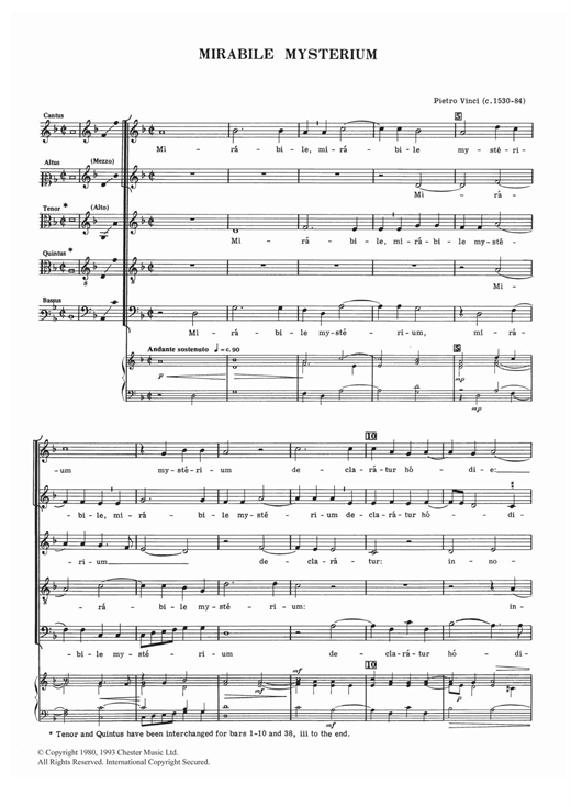 Mirabile Mysterium Sheet Music