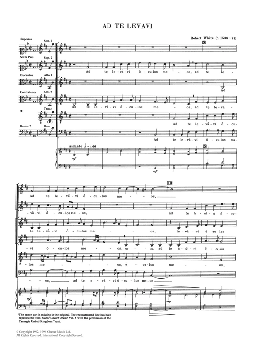 Ad Te Levavi Sheet Music