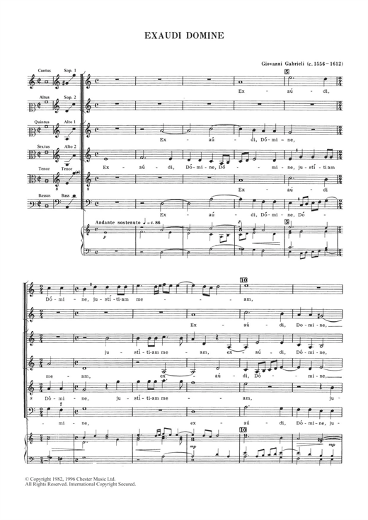 Exaudi Domine Sheet Music