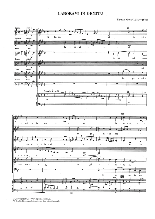 Laboravi In Gemitu Sheet Music