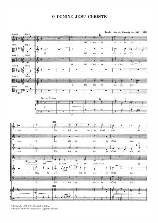 O Domine Jesu Christe Sheet Music