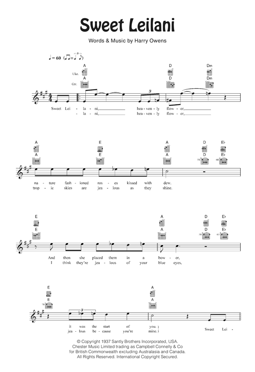 Sweet Leilani Sheet Music