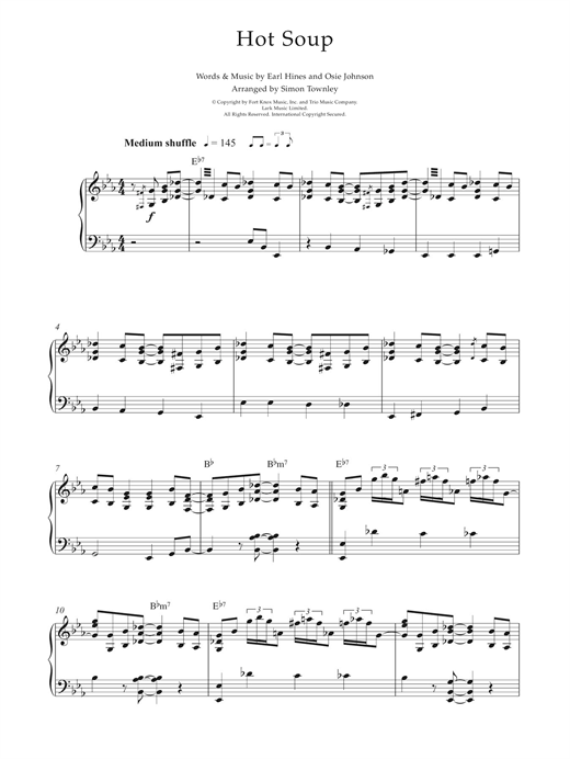 Hot Soup Sheet Music