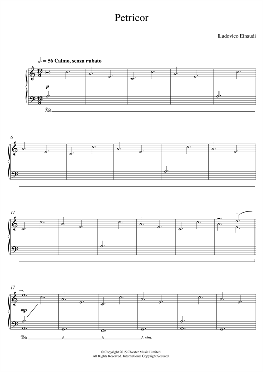 Petricor Sheet Music