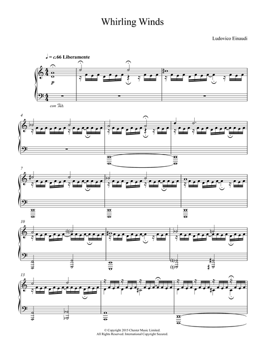 Whirling Winds Sheet Music