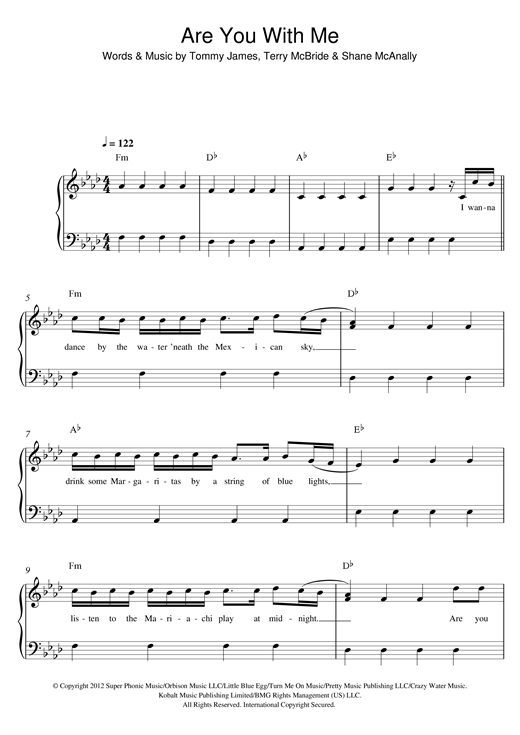 Are You With Me Sheet Music