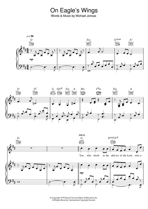 On Eagle's Wings Sheet Music
