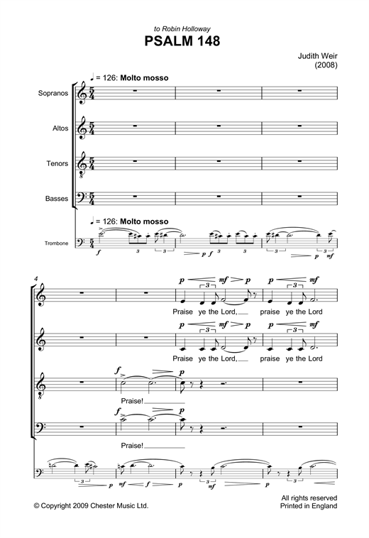 Psalm 148 Sheet Music