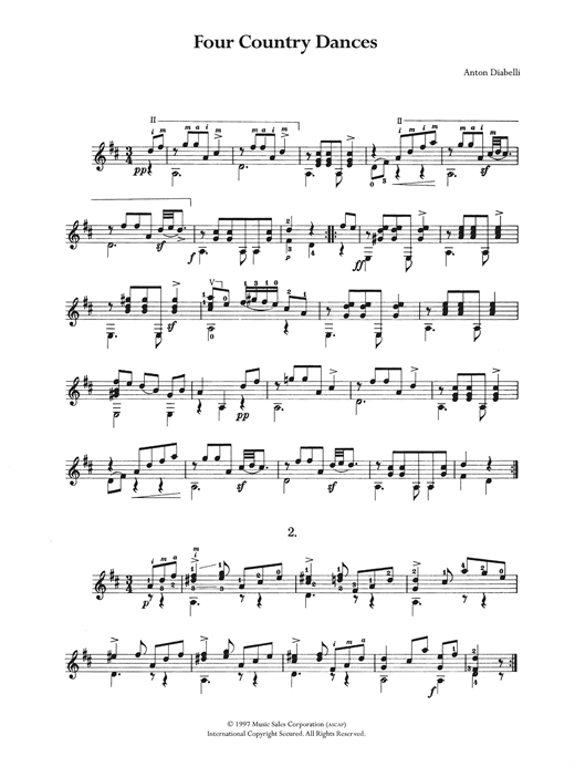 Four Country Dances Sheet Music