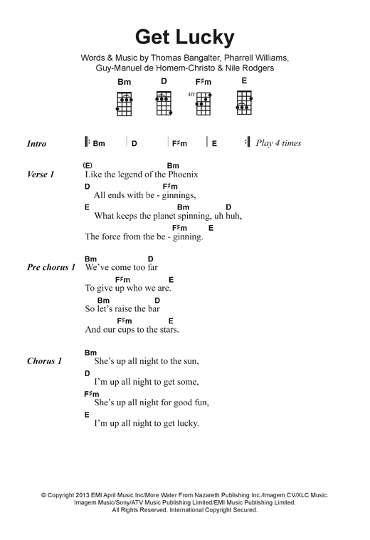 Get Lucky (feat. Pharrell Williams) Sheet Music
