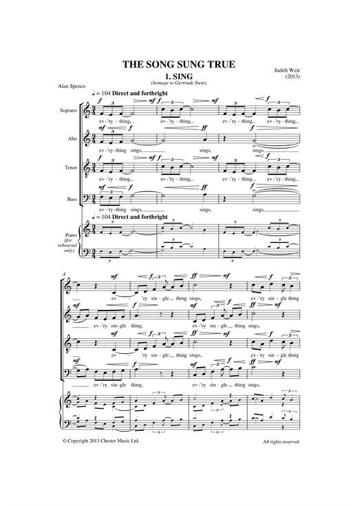 Song Sung True Sheet Music