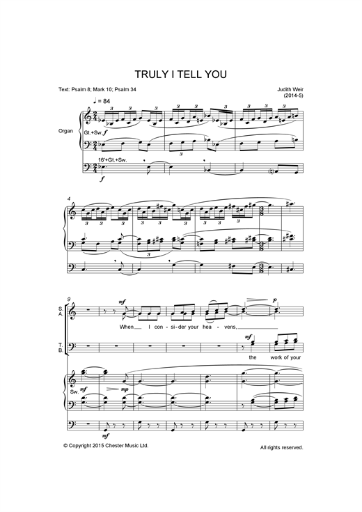 Truly I Tell You Sheet Music