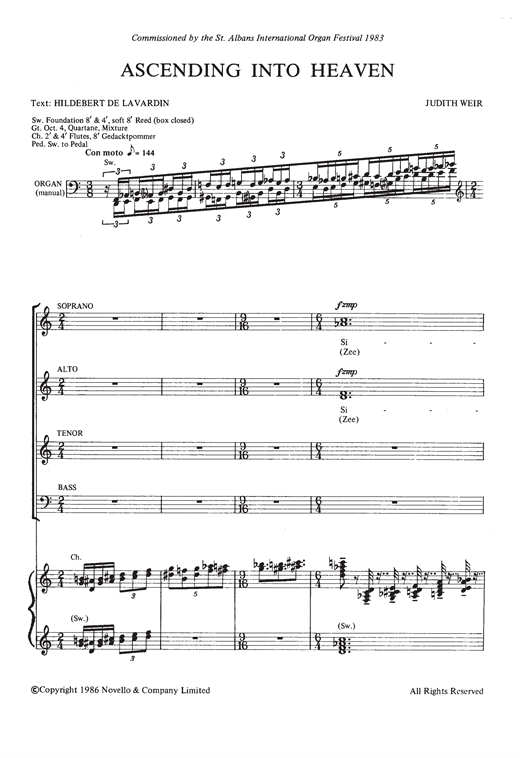 Ascending Into Heaven Sheet Music