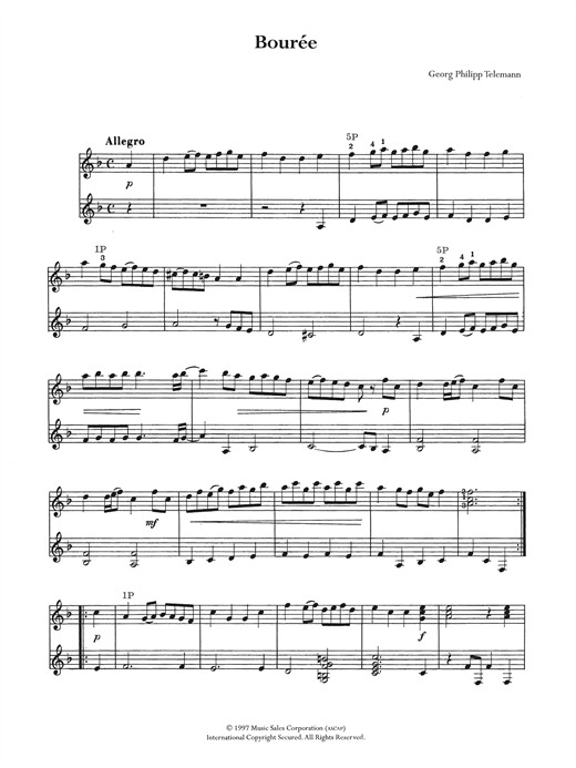 Bouree Sheet Music