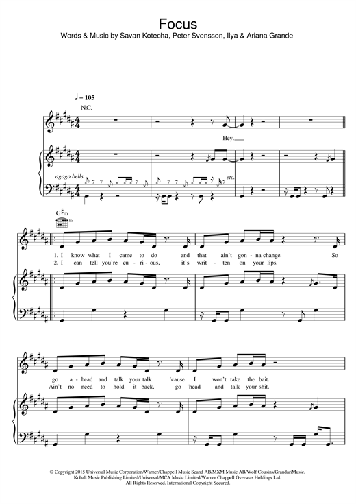 Focus Sheet Music