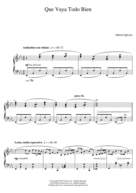Que Vaya Todo Bien (From 'Ma Ma') Sheet Music