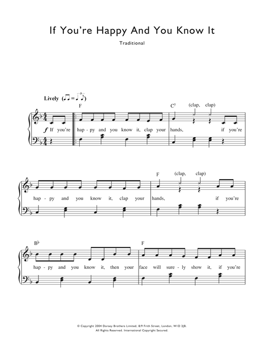 If You're Happy And You Know It Sheet Music