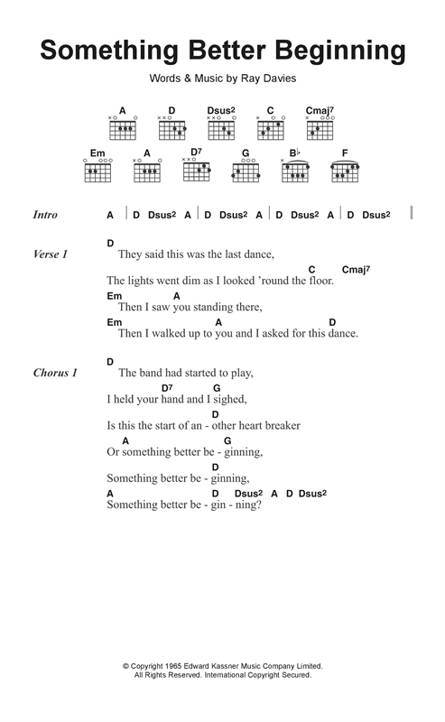 Something Better Beginning Sheet Music