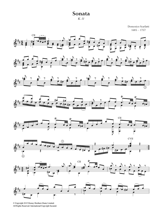 Sonata K.11 Sheet Music