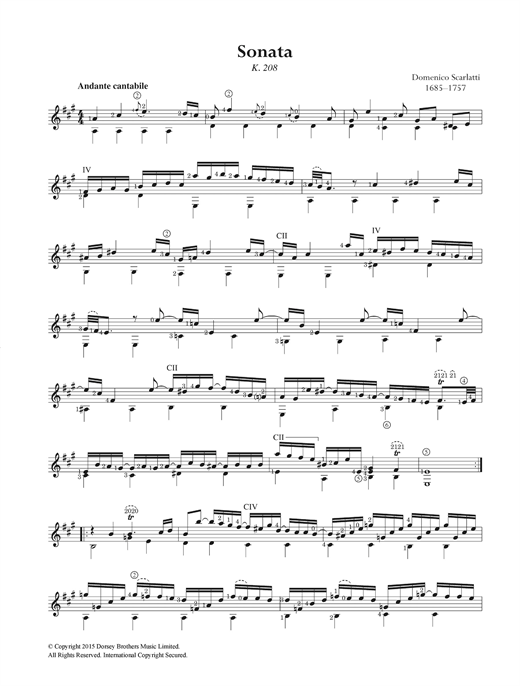 Sonata K.208 Sheet Music