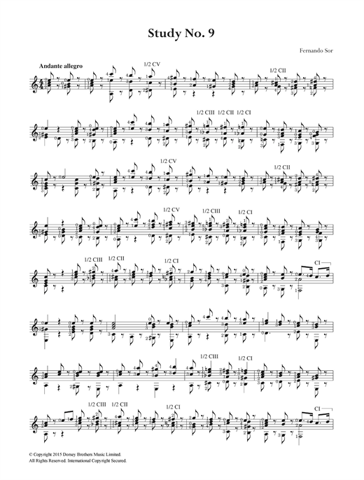 Study No. 9 Sheet Music