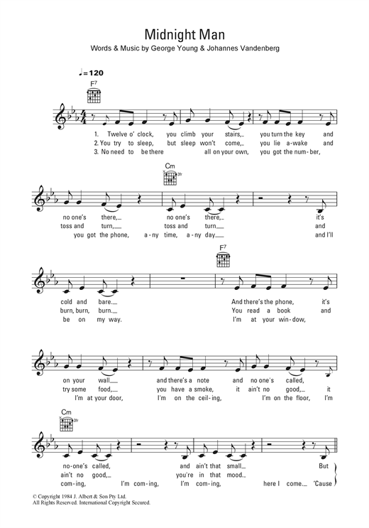Midnight Man Sheet Music