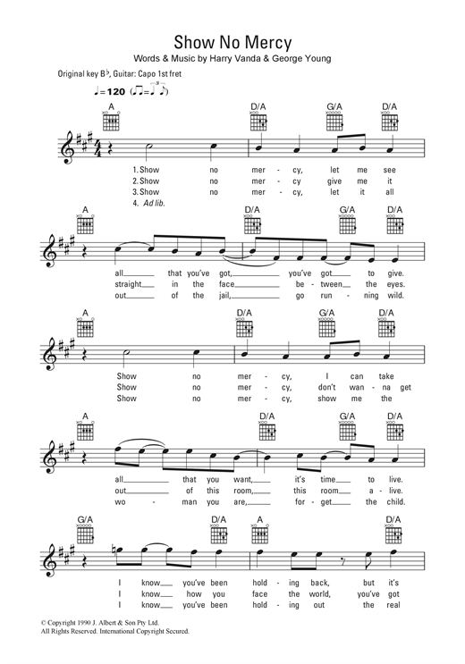 Show No Mercy Sheet Music
