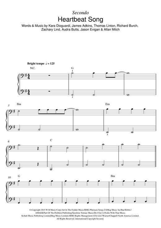 Heartbeat Song Sheet Music