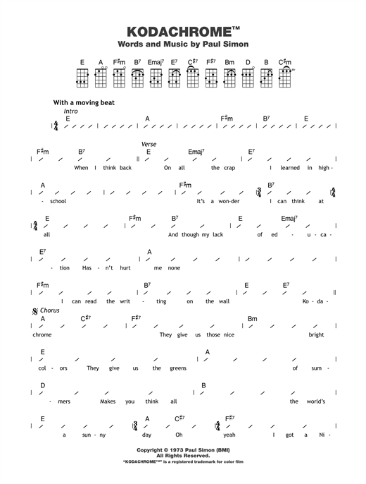 Kodachrome™ Sheet Music