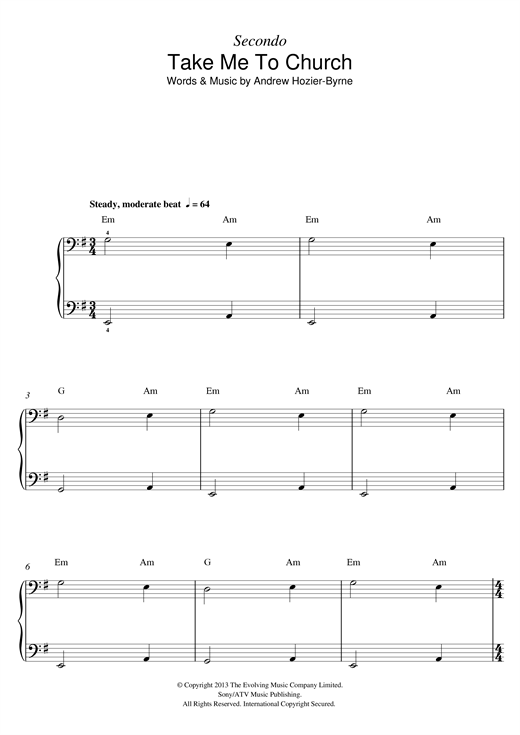 Take Me To Church Sheet Music