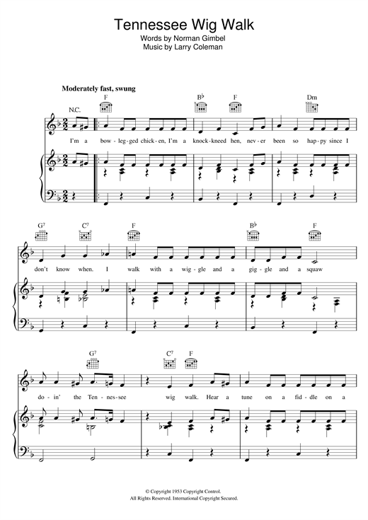 Tennessee Wig Walk Sheet Music