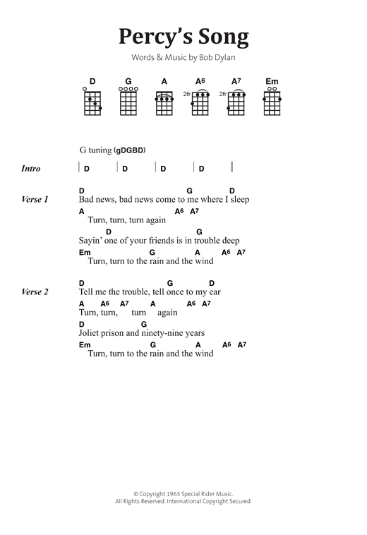 Percy's Song Sheet Music