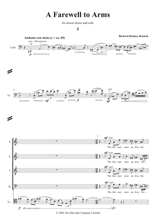 Farewell To Arms Sheet Music
