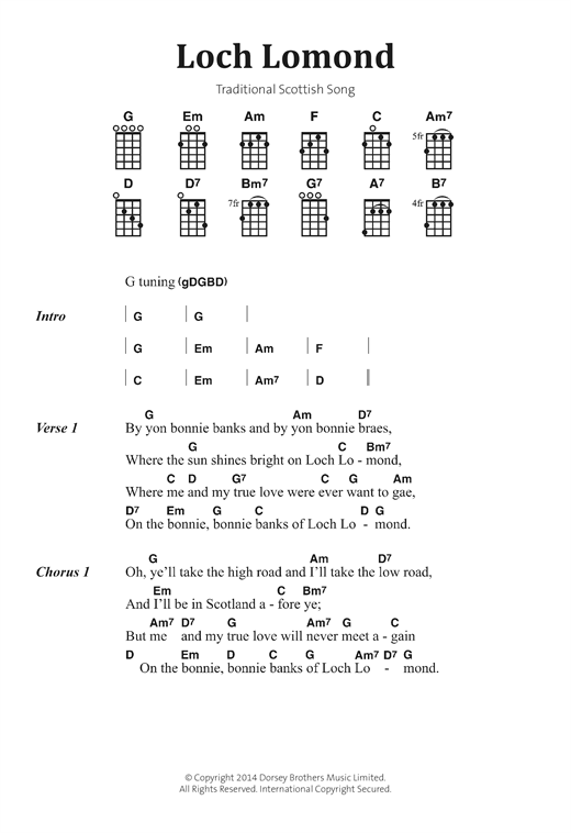 Loch Lomond (Banjo Chords/Lyrics)