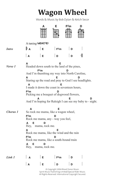 Wagon Wheel Sheet Music